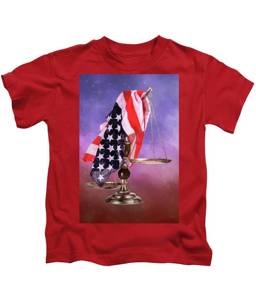 Liberty And Justice For All Kids T-Shirt