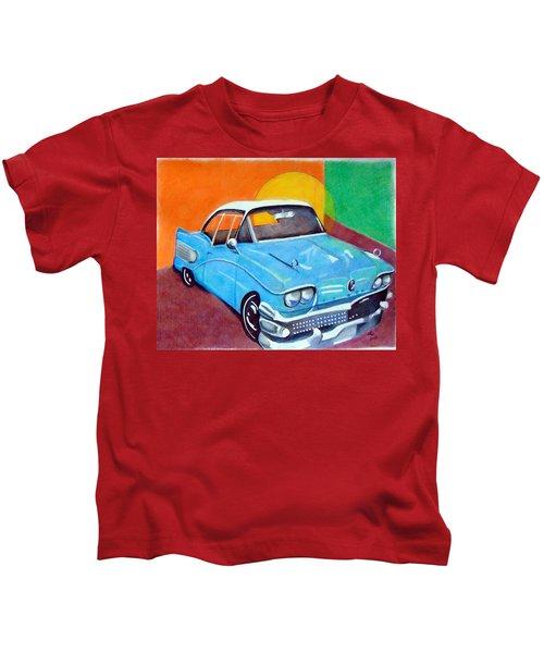 Light Blue 1950s Car  Kids T-Shirt