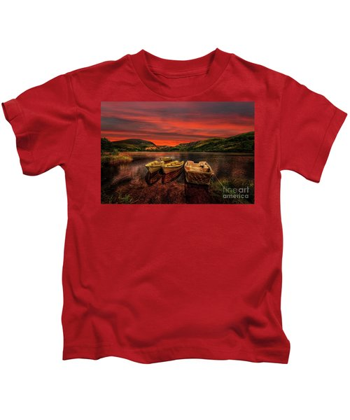 Llyn Nantlle Uchaf Snowdonia Kids T-Shirt
