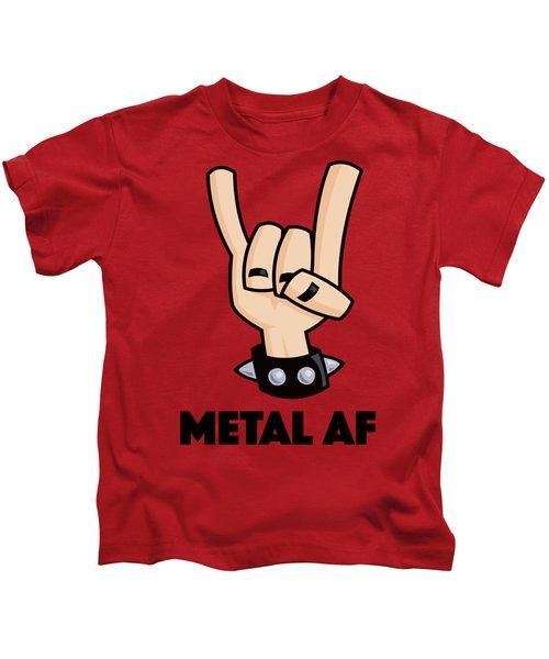 Metal Af Devil Horns Kids T-Shirt