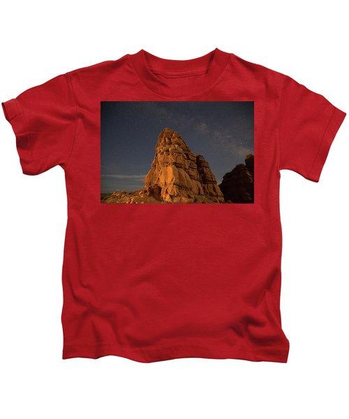 Milky Way On The Rocks Kids T-Shirt