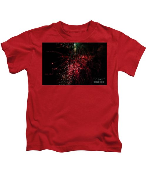 Mostly Red And White Fireworks Kids T-Shirt