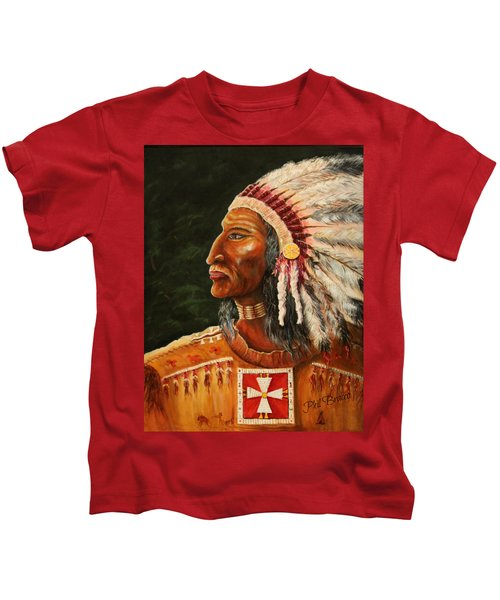 Native American Indian Chief Kids T-Shirt