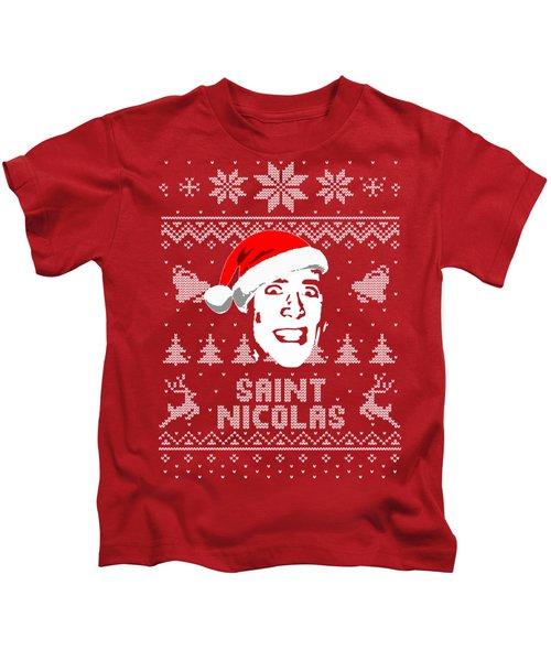 Nicolas Cage Saint Nicolas Christmas Shirt Kids T-Shirt