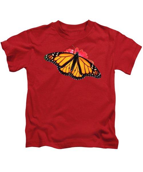Orange Drift Monarch Butterfly Kids T-Shirt