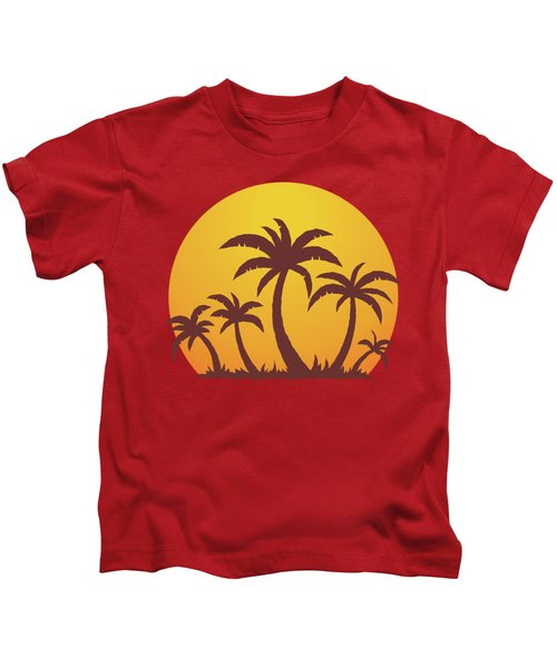 Palm Trees And Sun Kids T-Shirt