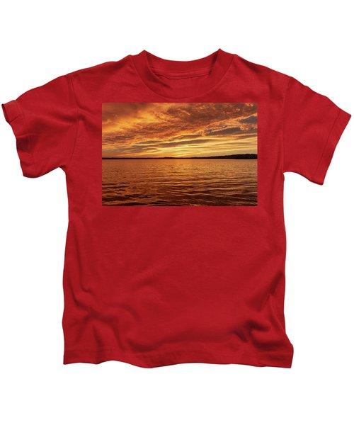 Percy Priest Lake Sunset Kids T-Shirt