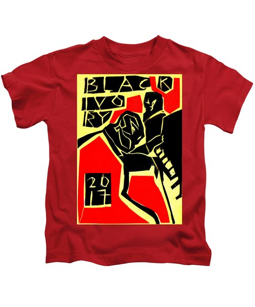 Piano Player Black Ivory Woodcut Poster 31 Kids T-Shirt