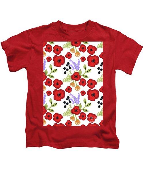 Poppy Print Kids T-Shirt