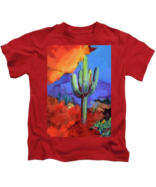 Under The Sonoran Sky By Elise Palmigiani Kids T-Shirt