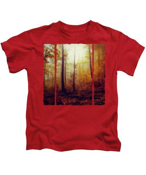 Rainwood - Misty October Forest Kids T-Shirt