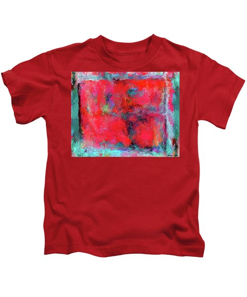 Rectangular Red Kids T-Shirt
