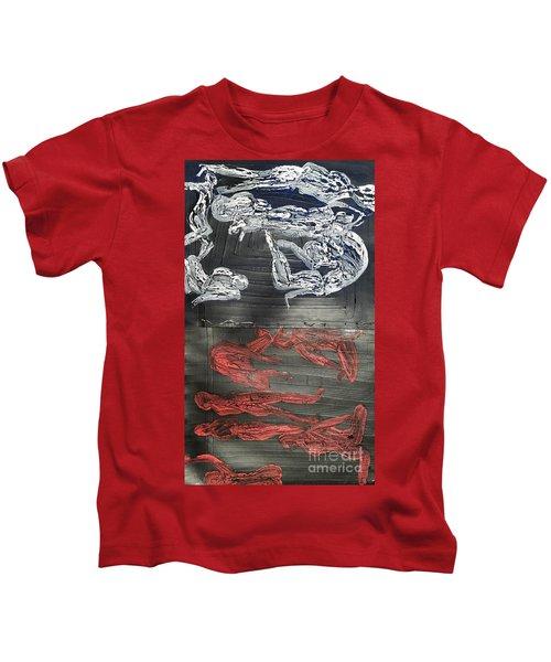 Red Strangles White Cells Kids T-Shirt