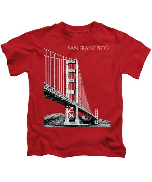 San Francisco Skyline Golden Gate Bridge 2 - Slate Blue Kids T-Shirt