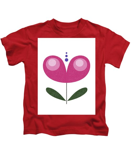 Scandinavian Purple Flower Kids T-Shirt