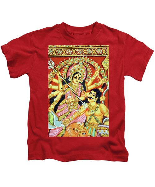 Scenes From The Ramayana Kids T-Shirt