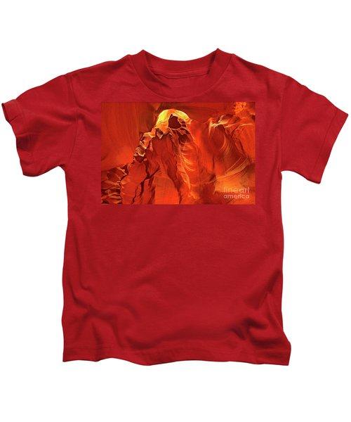 Slot Canyon Formations In Upper Antelope Canyon Arizona Kids T-Shirt