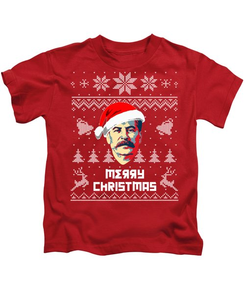 Stalin Merry Christmas Russian Letters Kids T-Shirt