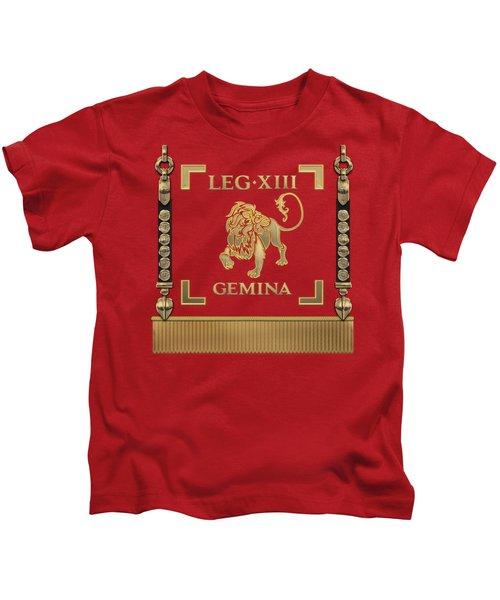 Standard Of The 13th Legion Geminia - Vexillum Of 13th Twin Legion Kids T-Shirt