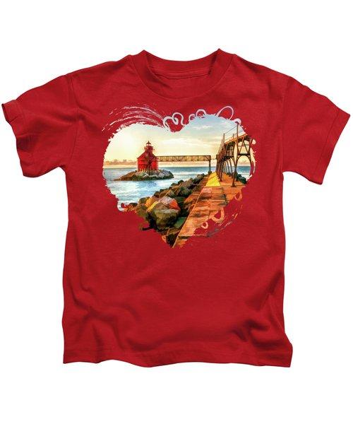 Sturgeon Bay Canal Pierhead Light Kids T-Shirt