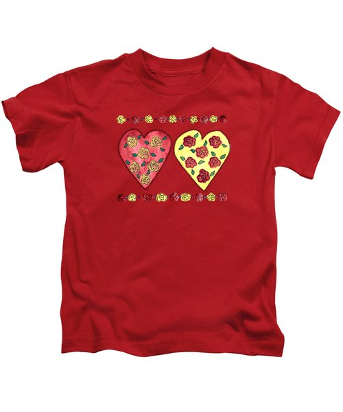 Love And Roses Kids T-Shirt
