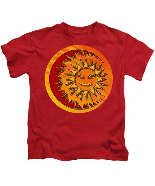 Sun Eclipsing The Moon Kids T-Shirt