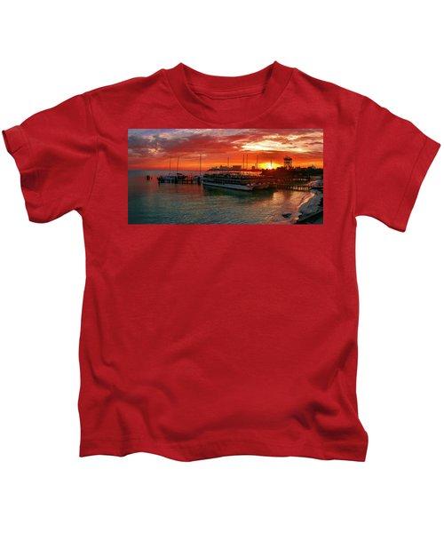 Sunrise In Cancun Kids T-Shirt