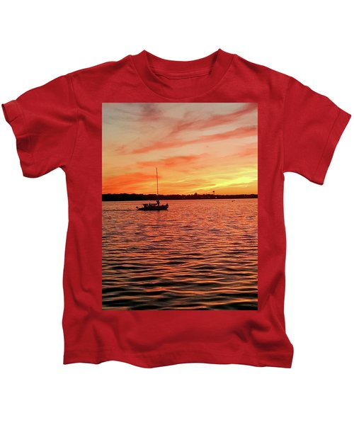 Sunset Sail Kids T-Shirt