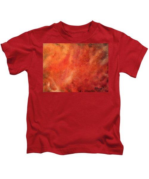 Tangerine Nebula Cloud Kids T-Shirt
