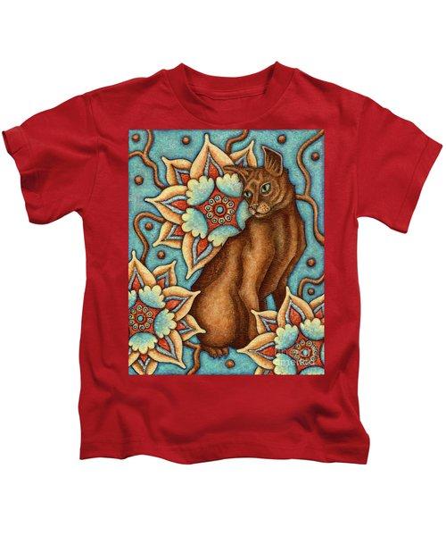 Tapestry Cat Kids T-Shirt