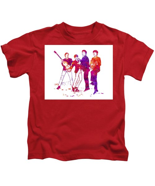 The Beatles Watercolor 02 Kids T-Shirt