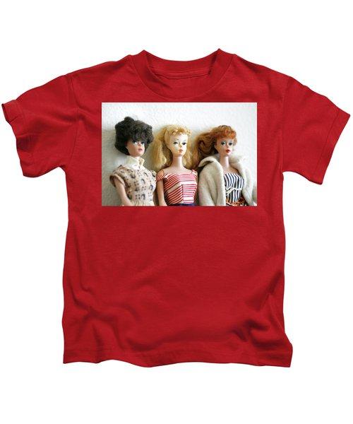 Three Barbies  Kids T-Shirt