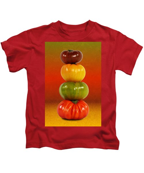 Tower Of Colorful Tomatoes Kids T-Shirt