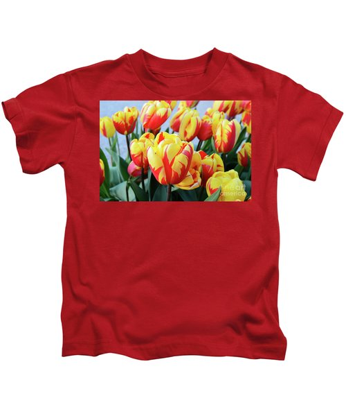 Tulips And Tiger Stripes Kids T-Shirt