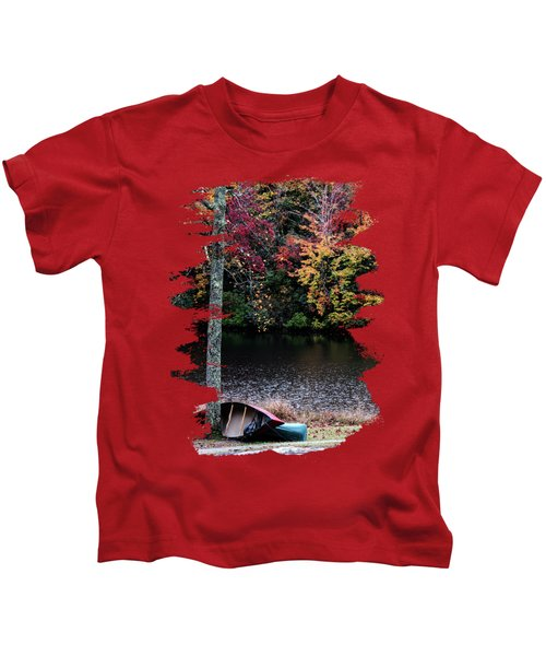 Two Canoes On An Autumn Day Kids T-Shirt