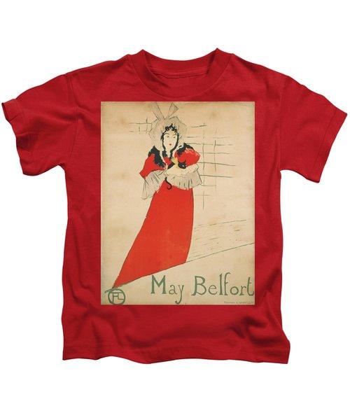 Vintage Poster - May Belfort Kids T-Shirt