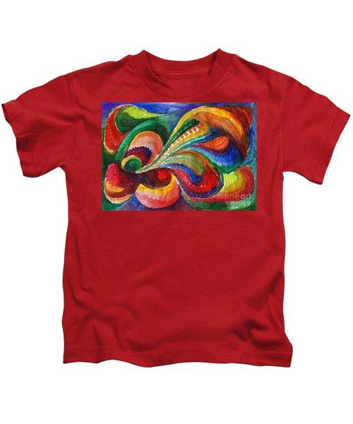 Vivid Abstract Watercolor Kids T-Shirt