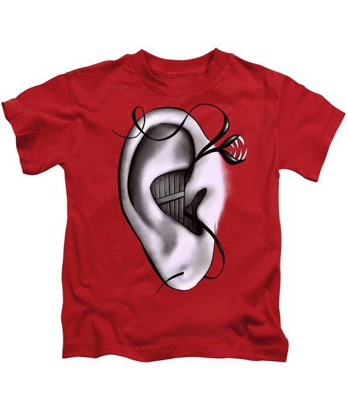 Weird Ear Monster Digital Art Kids T-Shirt