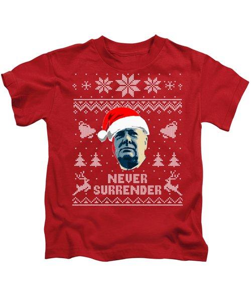 Winston Churchill Never Surrender Christmas Kids T-Shirt