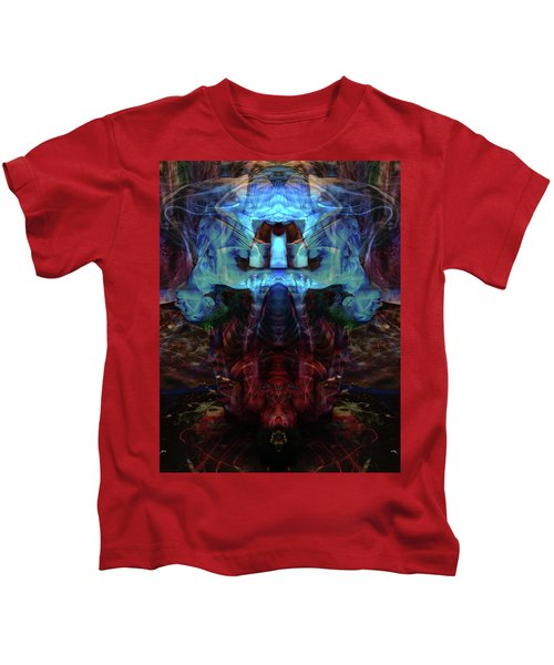 Yoga Statue Kids T-Shirt