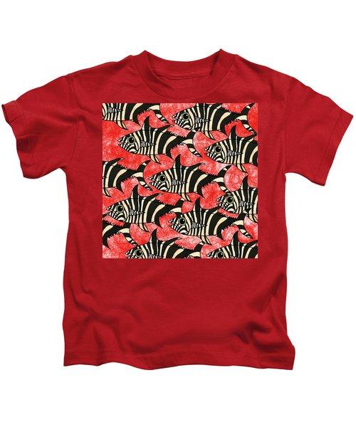 Zebra Fish 5 Kids T-Shirt