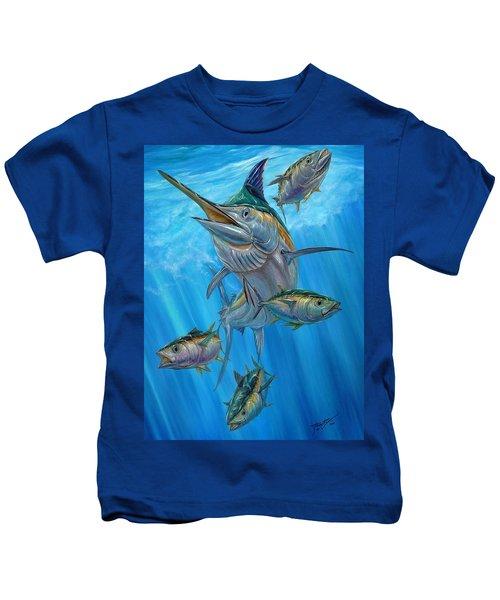Black Marlin And Albacore Kids T-Shirt