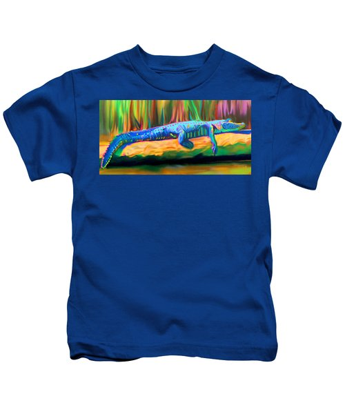 Blue Alligator Kids T-Shirt