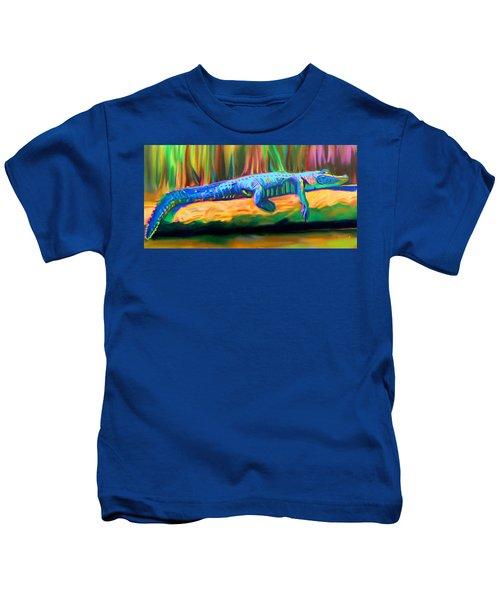 Blue Alligator Kids T-Shirt