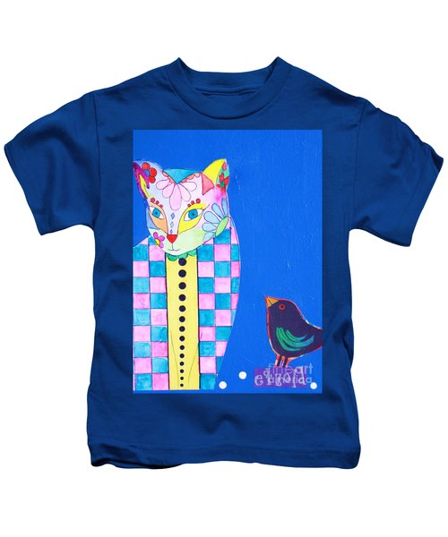 Checkered Cat Kids T-Shirt