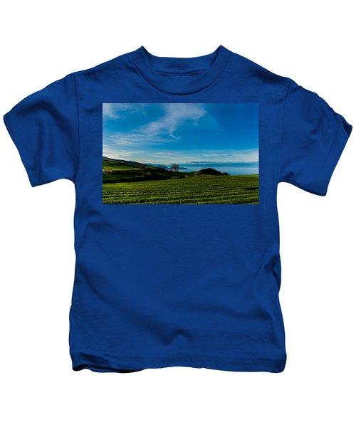 Field Of Tea Kids T-Shirt