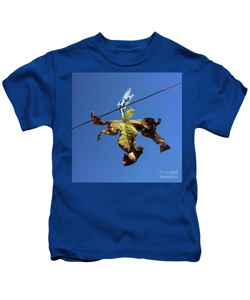 Leaf And Blue Sky Kids T-Shirt