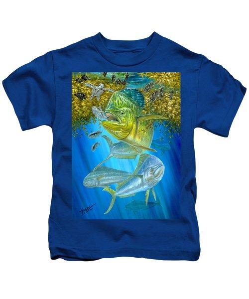 Mahi Mahi Hunting In Sargassum Kids T-Shirt