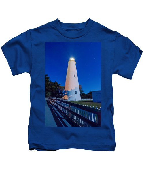 The Ocracoke Lighthouse On Ocracoke Island On The North Carolina Kids T-Shirt