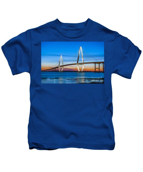 Charleston Arthur Ravenel Bridge Kids T-Shirt